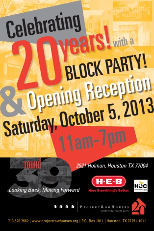 prh 20th anniv block party poster